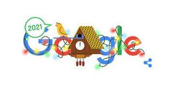 Google, yeni yılı doodle ile kutladı